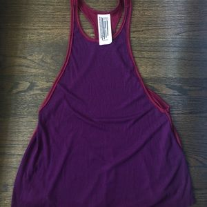 FREE PEOPLE high neck rubbed tank top